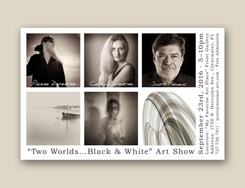"""Two Worlds…Black & White"" Art Show September 23rd, 2016"